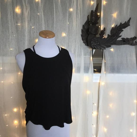 Onzie Tops - Onzie yoga tank black and white
